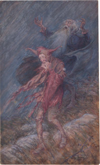 Arthur Rackham (British Artist and Illustrator, 1867-1939). King Lear and His Fool. [Place of creation not identifie