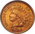 Indian Cents, 1894/1894 1C Repunched Date, Snow-1, FS-301 (FS-011), MS64 Red NGC....