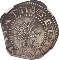 1652 SHILNG Oak Tree Shilling, IN at Bottom -- Improperly Cleaned -- NGC Details. XF. Noe-11, W-510, Salmon 9-Fi, R.6.(P...