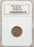 Indian Cents, 1864 1C Bronze No L MS65 Red and Brown NGC. NGC Census: (235/74). PCGS Population: (278/37). CDN: $550 Whsle. Bid for probl...