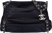"""Chanel Navy Blue Lambskin Leather Shoulder Bag Condition: 2 15"""" Width x 10"""" Height x 5"""" Depth"""