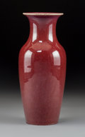 Ceramics & Porcelain:Chinese, A Chinese Oxblood Porcelain Vase. 8-7/8 x 4 inches (22.5 x 10.2 cm). ...