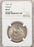Commemorative Silver, 1936 50C Albany MS67 NGC. NGC Census: (140/8). PCGS Population: (204/3). CDN: $550 Whsle. Bid for problem-free NGC/PCGS MS6...