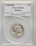 1938-D/D 5C MS66 PCGS. PCGS Population: (2072/141). NGC Census: (76/25). CDN: $85 Whsle. Bid for problem-free NGC/PCGS M...