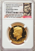1964-2014-W 50C Gold, Kennedy 50th Anniversary, PR69 Ultra Cameo NGC. NGC Census: (351/1219). PCGS Population: (431/243)...