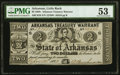 Obsoletes By State:Arkansas, Little Rock, AR- Arkansas Treasury Warrant $2 Apr. 26, 1862 Cr. 38 PMG About Uncirculated 53.. ...
