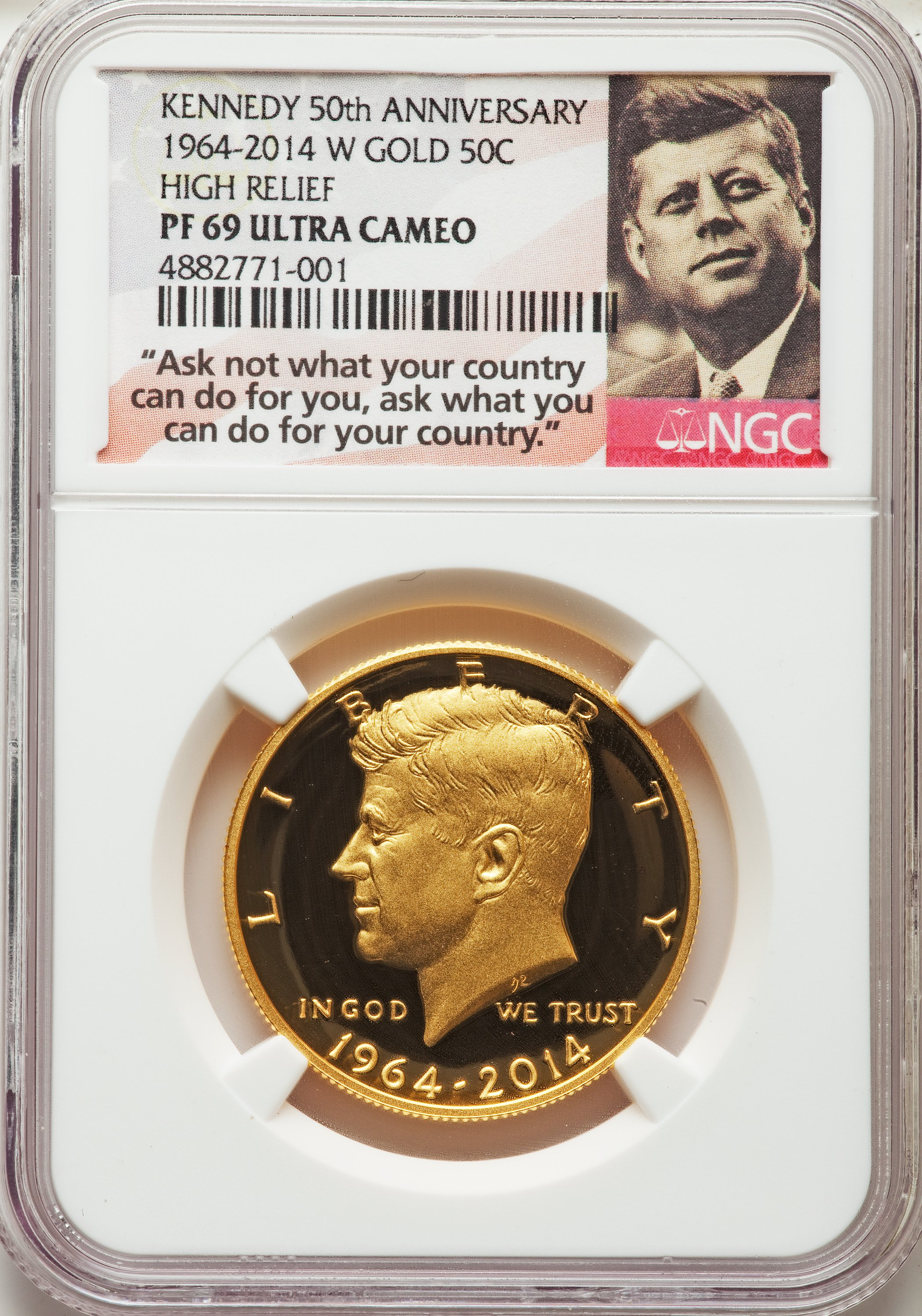 2015 s silver Kennedy half dollar NGC PF 69 Ultra Cameo