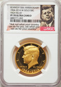 1964-2014-W 50C Gold, Kennedy 50th Anniversary, High Relief PR70 Ultra Cameo NGC. NGC Census: (1219). PCGS Population: (...