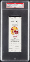 Football Collectibles:Tickets, 1994 Arizona St. vs. Oregon St. Full Ticket - Pat Tillman's Collegiate Debut, PSA EX 5 (Pop One with None Higher)....