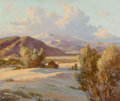 Paintings:Early Texas Art - Regionalists, Robert William Wood (American, 1889-1979). Desert Evening, 1945. Oil on canvas. 25 x 30-1/4 inches (63.5 x 76.8 cm). Sig...