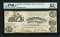 Confederate Notes:1861 Issues, T28 $10 1861 PF-5 Cr. 233 PMG Choice Uncirculated 63 EPQ.. ...