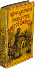"""Books:Mystery & Detective Fiction, """"Waters."""" Recollections of a Detective Police-Officer. London: 1856. First English edition.. ..."""