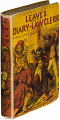 """Books:Mystery & Detective Fiction, [""""Waters.""""] Leaves from the Diary of a Law-Clerk. London: [1857]. First Brown & Co. edition.. ..."""