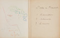Books:Manuscripts, Jean Cocteau. Three Part Manuscript and the Limited Numbered Edition of L' Ode à Picasso. Inscribed by Cocteau to ... (Total: 3 Items)