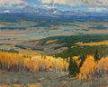 Paintings, Scott Christensen (American, b. 1962). Wyoming Fall. Oil on canvas. 48 x 60 inches (121.9 x 152.4 cm). Signed lower righ...