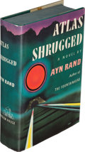 Books:Fiction, Ayn Rand. Atlas Shrugged. New York: 1957. First edition.. ...