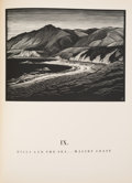 Books:Travels & Voyages, Paul Landacre. California Hills. And Other Wood Engravings. From the Original Blocks. Los Angeles: Bruce McCalli...