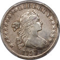 Early Dollars, 1797 $1 10x6 Stars, Large Letters, B-3, BB-71, R.2 -- Cleaned -- PCGS Genuine. VF Details....