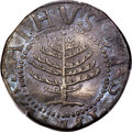 Colonials, 1652 SHILNG Pine Tree Shilling, Large Planchet, No Pellets at Trunk -- Questionable Color -- PCGS Genuine. XF Details. N...