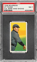 Baseball Cards:Singles (Pre-1930), 1909-11 T206 Sovereign 350 Cy Young (Bare Hand Shows) PSA NM 7 - Pop Three, One Higher for Brand! ...