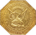 Territorial Gold , 1852 $50 Assay Office Fifty Dollar, 900 Thous. -- Repaired -- NGC Details. AU. K-14, High R.5....