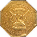 Territorial Gold , 1851 $50 RE Humbert Fifty Dollar, Reeded Edge, 880 Thous. XF40 NGC. K-5, Low R.5....