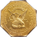 Territorial Gold , 1852 $50 Assay Office Fifty Dollar, 887 Thous. -- Surfaced Tooled -- PCGS Genuine. AU Details. K-11, R.5....