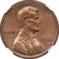 Lincoln Cents, 1982-D 1C Small Date, Bronze -- Transitional -- AU58 NGC....