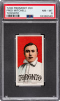 Baseball Cards:Singles (Pre-1930), 1909-11 T206 Piedmont 350 Fred Mitchell (Toronto) PSA NM-MT 8 - Pop Two, None Higher. ...