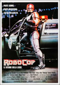 "Movie Posters:Action, RoboCop (Orion, 1987). Rolled, Very Fine-. Italian Foglio (27.5"" X39.5""). Mike Bryan Artwork. Action.. ..."
