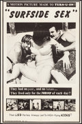 """Movie Posters:Adult, Surfside Sex (Distribpix, 1968). Folded, Fine/Very Fine. One Sheet (25"""" X 38""""). Adult.. ..."""