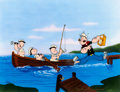 "Animation Art:Limited Edition Cel, Popeye and Nephews ""Gone Fishing"" Signed Limited Edition Cel, #67/250 (King Features Syndicate/ Flesicher Studios, 199..."