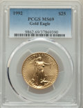 1992 $25 Half-Ounce Gold Eagle MS69 PCGS. PCGS Population: (1777/28). NGC Census: (5199/167). CDN: $875 Whsle. Bid for p...