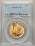 Indian Eagles: , 1932 $10 MS62 PCGS. PCGS Population: (14396/34089). NGC Census: (16215/40337). MS62. Mintage 4,463,000. ...