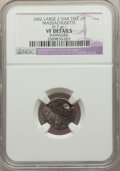 Colonials, 1662 2PENCE Oak Tree Twopence, Large 2, -- Damaged -- NGC Details. VF. NGC Census: (0/12). PCGS Population: (0/14). VF20. ...