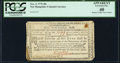 Colonial Notes:New Hampshire, New Hampshire November 3, 1775 40s PCGS Apparent Extremely Fine 40.. ...