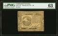 Colonial Notes:Continental Congress Issues, Continental Currency February 26, 1777 $6 PMG Choice Uncirculated 63.. ...