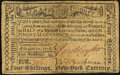 Colonial Notes:New York, (Albany), NY- Albany County February 17, 1776 Personal Promissory Note $1/2 (4s) Repaired Very Fine.. ...