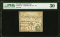 Colonial Notes:Georgia, Georgia September 10, 1777 $5 PMG Very Fine 30.. ...