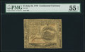 Colonial Notes:Continental Congress Issues, Continental Currency July 22, 1776 $4 PMG About Uncirculated 55 EPQ.. ...