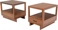 Furniture , Frank Lloyd Wright (American, 1867-1959). Pair of Taliesin Side Tables, circa 1950, Henredon. Mahogany. 23 x 28-1/4 x 21... (Total: 2 Items)