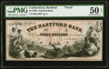 Obsoletes By State:Connecticut, Hartford, CT- Hartford Bank $3 18__ as G160 Proof PMG About Uncirculated 50 EPQ.. ...