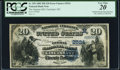 Error Notes:Double Denominations, Cincinnati, OH - $20/$10 Double Denomination 1882 Date Back Fr. 555 The German NB Ch. # (M)2524 PCGS Very Fine 20.. ...