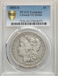 1893-S $1 -- Cleaned -- PCGS Genuine. VG Details....(PCGS# 7226)