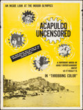 """Movie Posters:Adult, Acapulco Uncensored (Jerand Film Distributors Inc., 1968). Folded, Fine/Very Fine. Poster (30"""" X 40""""). Adult.. ..."""