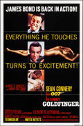 "Movie Posters:James Bond, Goldfinger (United Artists, R-1980). Folded, Very Fine+. One Sheet (27"" X 41""). James Bond.. ..."