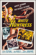 "Movie Posters:Adventure, White Huntress (American International, 1957). Folded, Very Fine. One Sheet (27"" X 41""). Adventure.. ..."