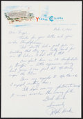 Autographs:Letters, Baseball Greats & Hall of Famers Signed Letter Lot of 5....
