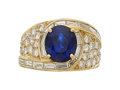 Estate Jewelry:Rings, Sapphire, Diamond, Gold Ring . ...
