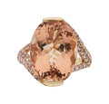 Estate Jewelry:Rings, Morganite, Pink Sapphire, Gold Ring. ...